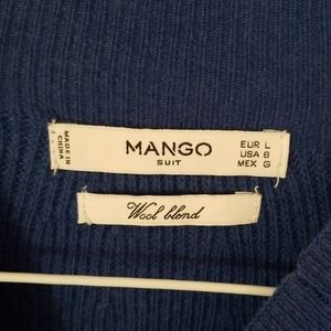 Mango Sweaters - Electric blue wool blend sweater